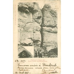 LUXEMBOURG. Pérékop et femme nue Petite Suisse Luxembourgeoise 1903