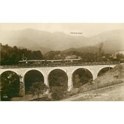 Ligne de Nyon-St Cergue avec Train sur le Pont de Givrins