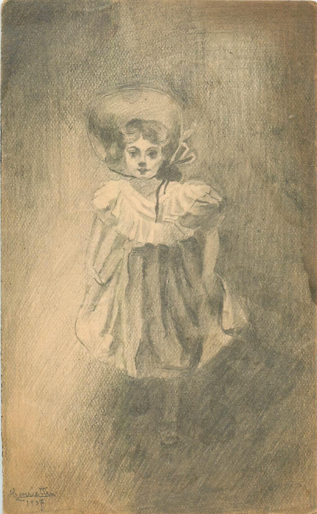 Illustratrice HENRIETTE. Jeune fille canadienne 1907