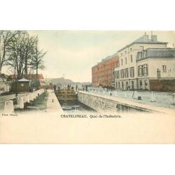 CHATELINEAU. Péniche à l'Ecluse Quai de l'Industrie 1903