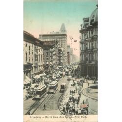 BROADWAY. North from Ann Street New-York 1907