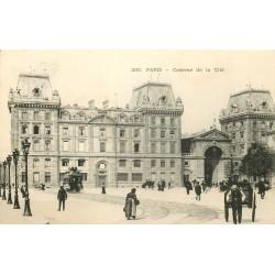 75004 PARIS. Caserne de la Cité vers 1900