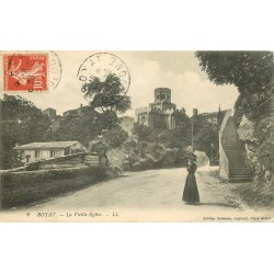 63 ROYAT. La Vieille Eglise 1911 élégante avec ombrelle...