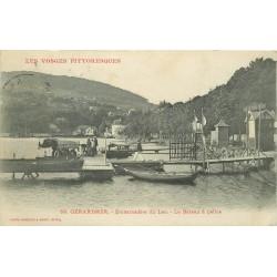 88 GERARDMER. Le Bateau à hélice Embarcadère du Lac 1907