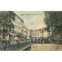 CHARLEROI. Entrée de la Ville avec Grand Hôtel de l'Europe 1913