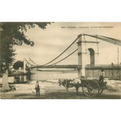 56 LORIENT. Kerentrech Pont Saint-Christophe attelage chargement du Sable