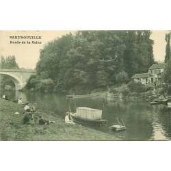 78 SARTROUVILLE. Enfants sur les bords de la Seine 1911