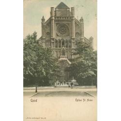 GAND GENT. Eglise Saint-Anne vers 1903