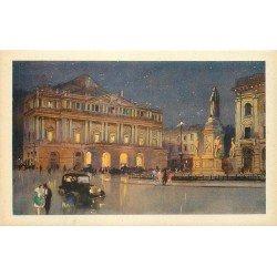 MILANO. Piazza e Teatro della Scala voitures anciennes