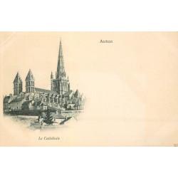 Cpa précurseur vers 1900 AUTUN 71. La Cathédrale