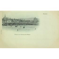 Cpa précurseur vers 1900 AUTUN 71. Place du Champ-de-Mars