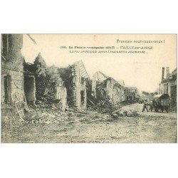 carte postale ancienne 02 VAILLY-SUR-AISNE. La Rue Principale bombardée 1918