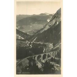 Suisse. ALBULABAHN. Le Pont du chemin de fer 1923