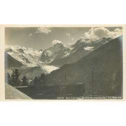 BERNINABAHN. Morteratschgletscher avec Train 1923