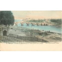 1900 Carte précurseur NAMUR. Travaux démolition Vieille Porte Plante