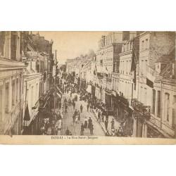 59 DOUAI. Grosse animation rue Saint-Jacques 1919