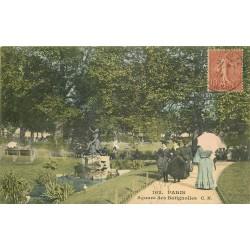 75 PARIS 17. Square des Batignolles 1907
