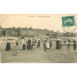 80 ONIVAL. La Plage à Marée basse avec jeu de croquet et tennis 1910