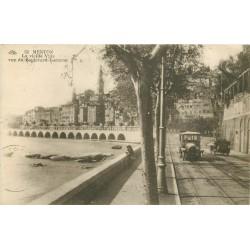 06 MENTON. Voitures anciennes sur Boulevard Garavan 1945