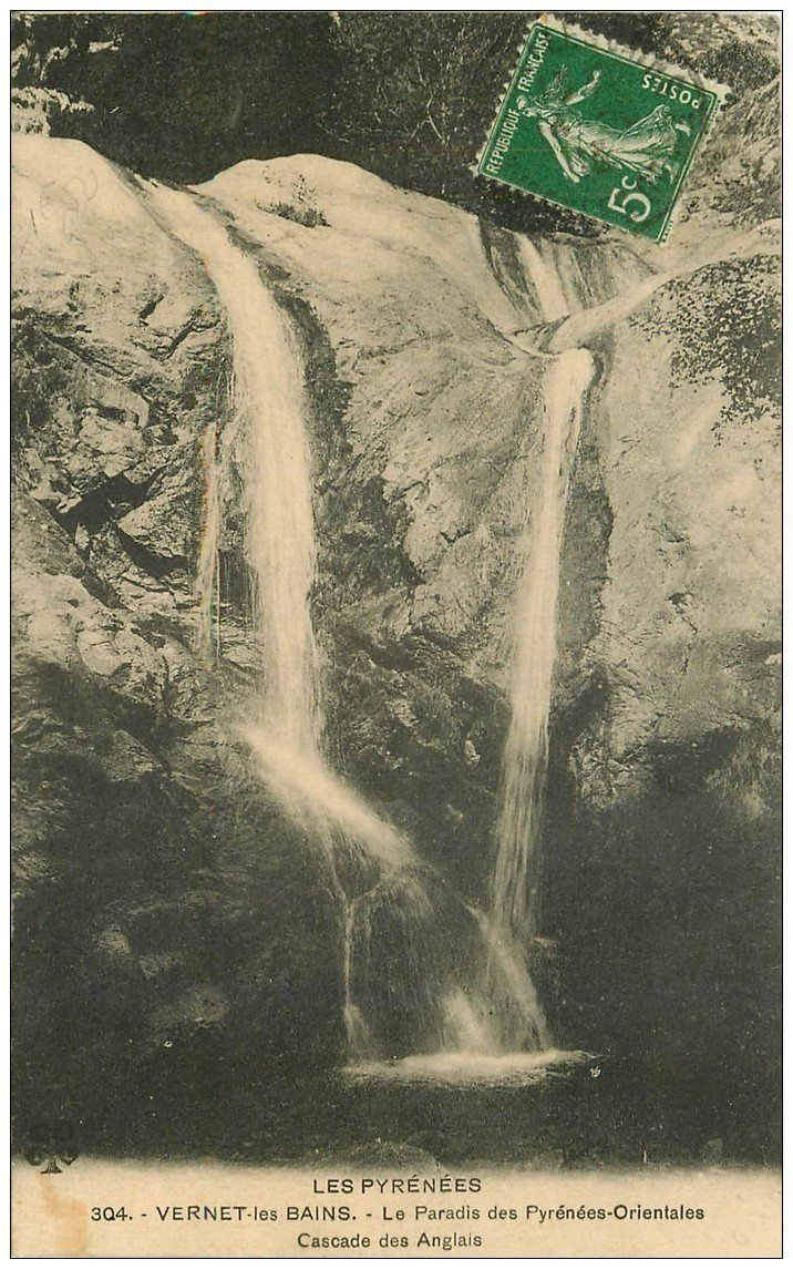 66 vernet les bains cascade des anglais 1913 - Office de tourisme de vernet les bains ...