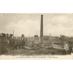 59 DOUAI. Raffinerie de Pétrole batterie de chaudières à distiller et Blackpots 1923