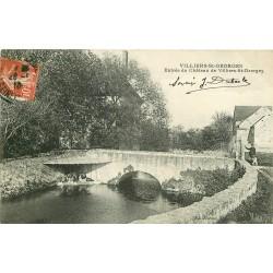 2 x Cpa 77 VILLIERS-SAINT-GEORGES. Entrée du Château et Eglise 1910