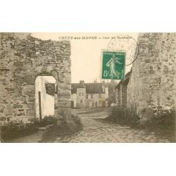 02 CHEZY-SUR-MARNE. Cour des Tournelles 1915