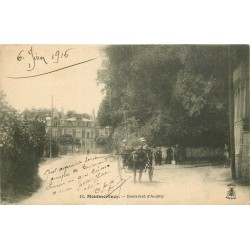 95 MONTMORENCY. Attelage sur le Boulevard d'Andilly 1916