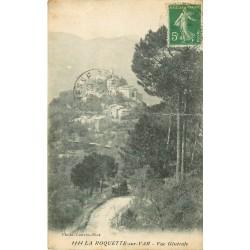 06 LA ROQUETTE-SUR-VAR. Vue générale sur le Village 1919