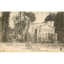 62 MAISNIL-LES-RUITZ. L'Eglise Guerre 1915