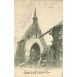 NIEUPORT NIEUWPOORT. Ruines d'une Eglise 1915