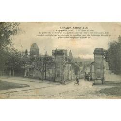 91 ARPAJON. Rue de Paris avec Facteur à vélo 1913