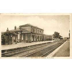 60 LIANCOURT-RANTIGNY. Intérieur de la Gare 1945