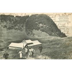 88 ROUGE-GAZON. Ancienne Frontière avec Randonneurs 1918