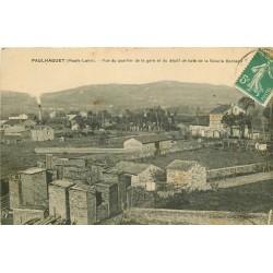 43 PAULHAGUET. Quartier de la Gare et dépôt de bois Scierie Bernard vers 1912