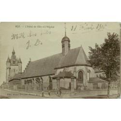 80 RUE. Hôtel de Ville et Hôpital 1916