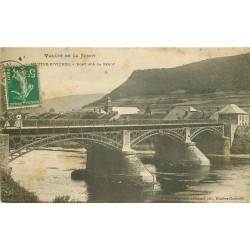 08 LES HAUTES-RIVIERES. Pont sur la Semoy 1913