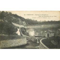 81 CARMAUX. Barrage de Fontbonne pour les Fontaines de la Ville 1916