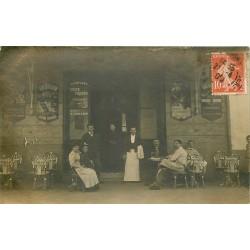 """Rare Photo Cpa 33 TALENCE. Bar Brasserie """" GAILLARD """" 1909"""