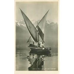 Barque de Pêcheurs sur le Lac Léman