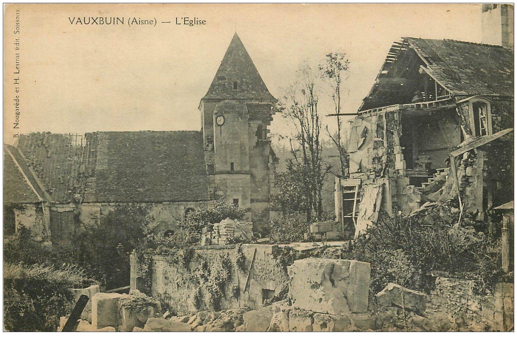 carte postale ancienne 02 VAUXBUIN. L'Eglise