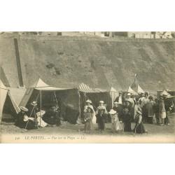 62 LE PORTEL. Vue sur les Cabines de Plage 1907
