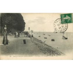 80 SAINT-VALERY-SUR-SOMME. La Digue rue Jules Brulée 1912