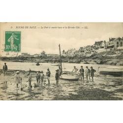 44 BOURG DE BATZ. Le Port à marée basse et Grande Côte 1922