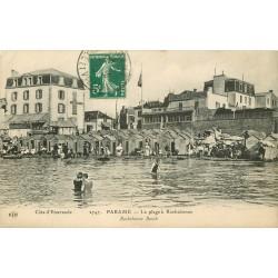 35 PARAME. La Plage à Cochebonne 1912 avec Hôtel de la Paix