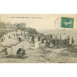 14 SAINT AUBIN SUR MER. L'Heure du Bain 1910