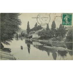 42 CHARLIEU. Vache dans le Sornin 1910