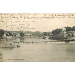 77 MELUN. Barrage du grand bras de la Seine 1905