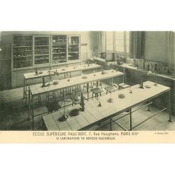 PARIS 14. Ecole Supérieure Paul-Bert 7 rue Huyghens. Laboratoire de Sciences naturelles