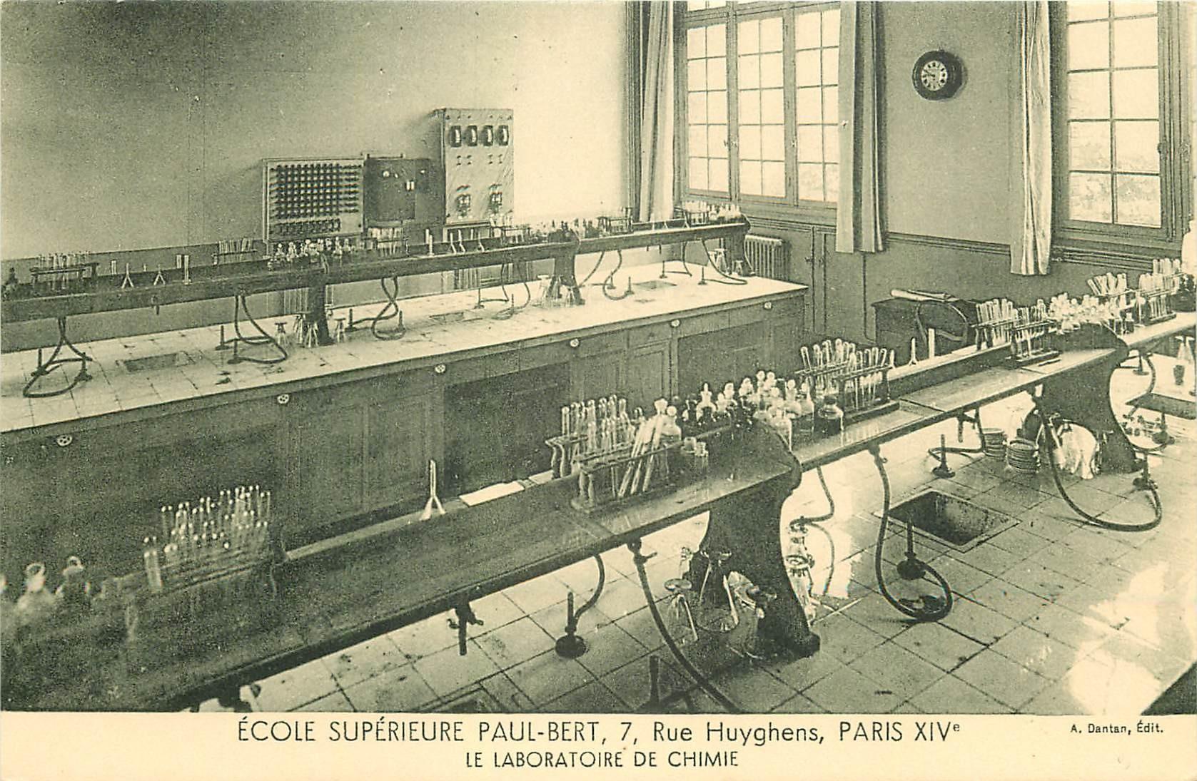 PARIS 14. Ecole Supérieure Paul-Bert 7 rue Huyghens. Le Laboratoire de Chimie
